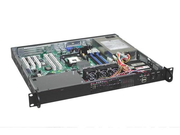 1U form factor server chassis with depth of 15 inch